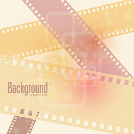 abstract film background  illustration Vector