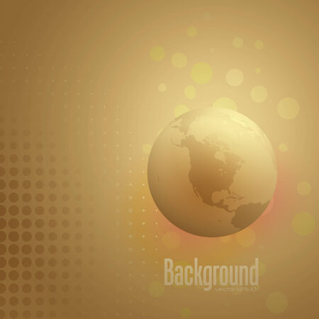 abstract earth globe background - North America view,  illustration