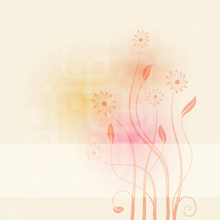 abstract background with flowers ,   illustration