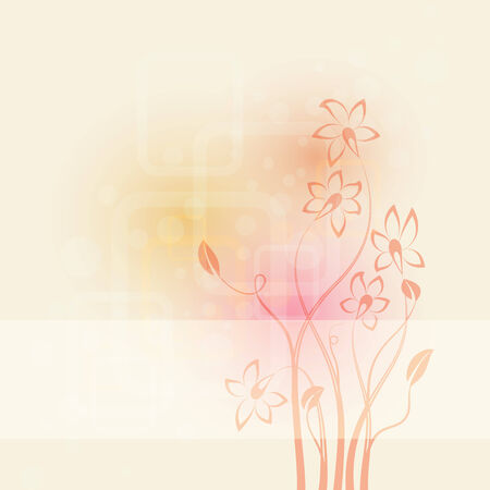 abstract background with flowers  illustration Illustration
