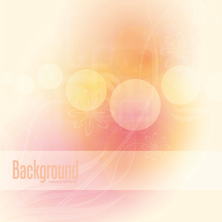 abstract colorful floral  background,  illustration