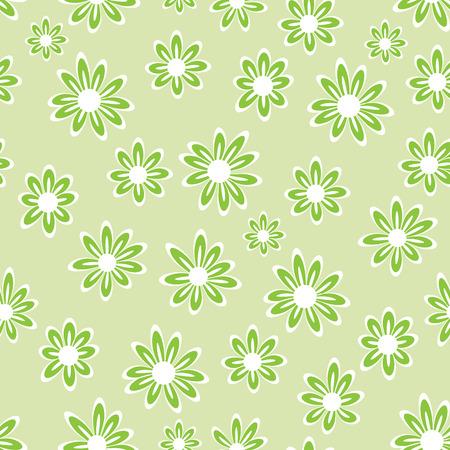 seamless bacground: green floral pattern - seamless,   illustration Illustration