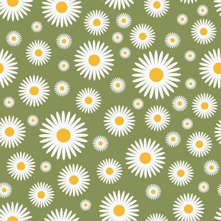 floral green pattern - seamless,   illustration