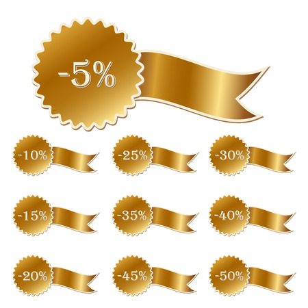 comerce: discount labels collection isolated on white, illustrator Illustration