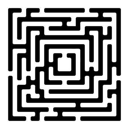 labyrinth: rectangle maze isolated on white, vector illustration Illustration