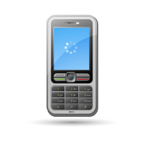 mobile phone isolated on white, vector ilustration