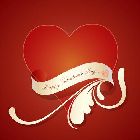 Valentine greeting card  Illustration