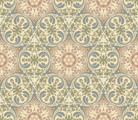 seamless damask: Patr�n de Damasco transparente, ilustraci�n vectorial Vectores