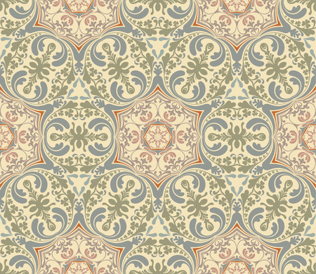 Seamless Damask pattern, vector illustration