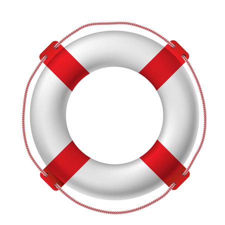 cinturon seguridad: Salvavidas blanco, ilustraci�n vectorial.