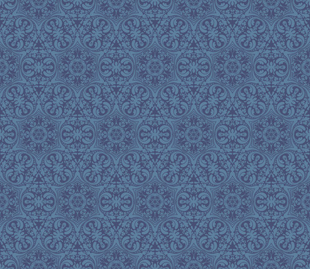Seamless Damask pattern, vector illustration Vector