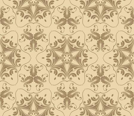 victorian wallpaper: Seamless Damask pattern, vector illustration