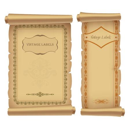 vintage labels, vector illustration