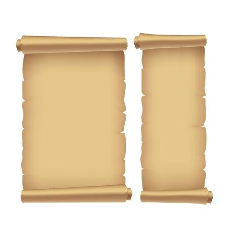 antiguo pergamino, ilustración vectorial  Ilustración de vector