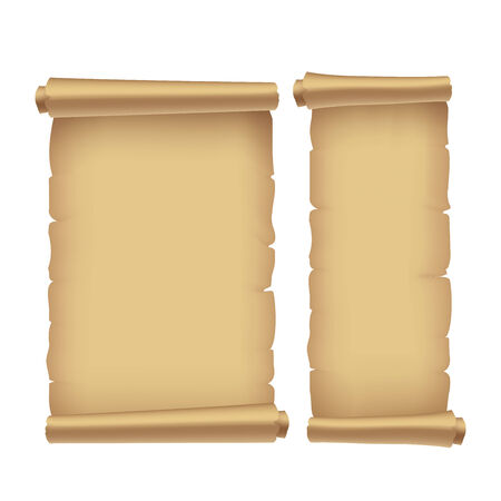 roll of paper: old parchment, vector illustration