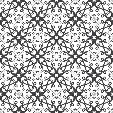 Seamless Damask pattern.   Vector illustration. Stock Illustration - 9534764