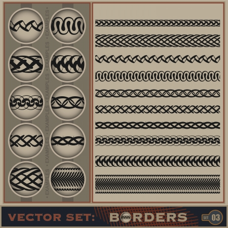 Seamless borders set Stock Vector - 14683400