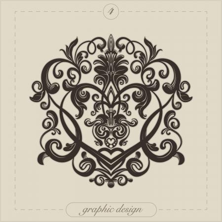 Design element for decorations  Illustration