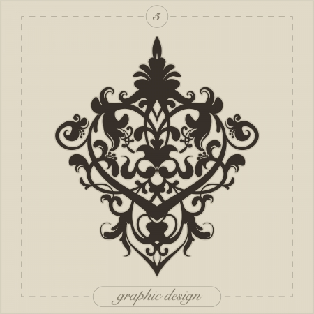 heart tattoo: Design element for decorations  Illustration