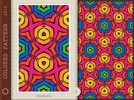 Seamless colored pattern   Vector illustration