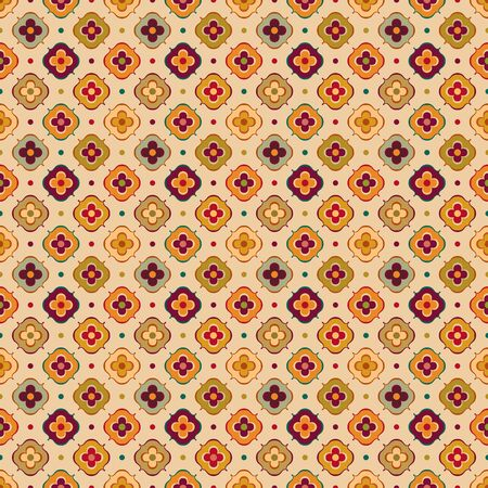 vintage pattern with abstract flowers