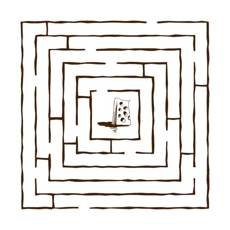 hand draw maze