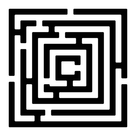 Rectangle maze isolated on white    Stock Vector - 17271660