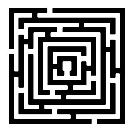 Rectangle maze isolated on white