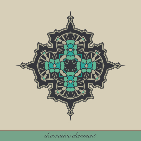 Decorative element for page design, or for other graphic designs use. Vector illustration.