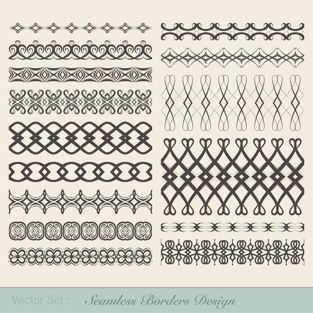 bordi decorativi: Set di quindici bordi decorativi per le decorazioni.