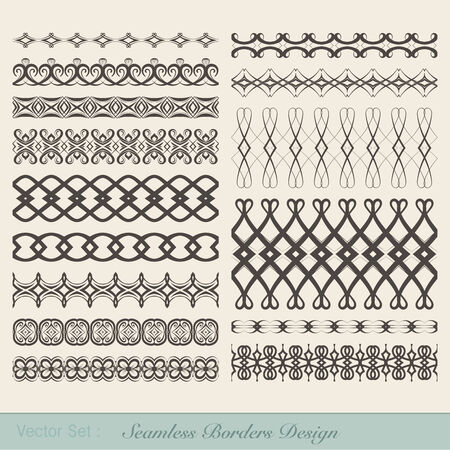 Set of fifteen decorative borders for decorations.