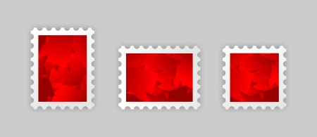 postage stamps with the red abstract picture photo