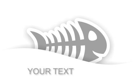 notification: gray fish bone sticker notification with light shadow effect