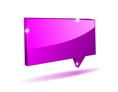 shaddow: vector 3D purple vector angular comics bubble with light shaddow