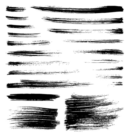 set of vector quality handmade brush strokes
