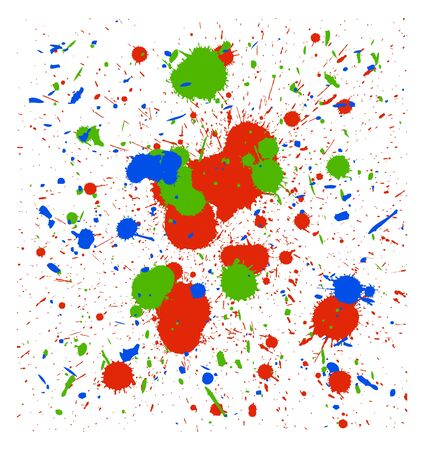 set of vector color quality handmade brush splatters Vector