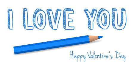 vector handwritten valentine greeting on the white background Vector