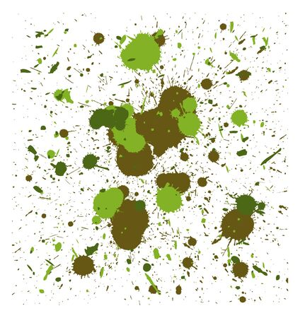 fatigues: set of vector camouflage quality handmade brush splatters