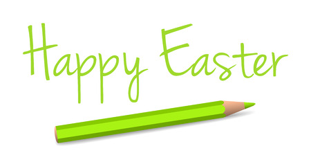 vector handwritten easter greeting on the white background Vector