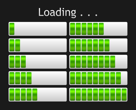green loading bar indicate procedure of load Vector