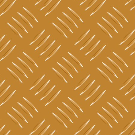 repeated gold metal pattern with many metallic elements Vector