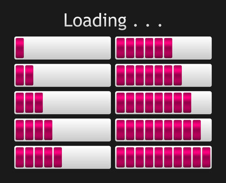 pink loading bar indicate procedure of load Vector