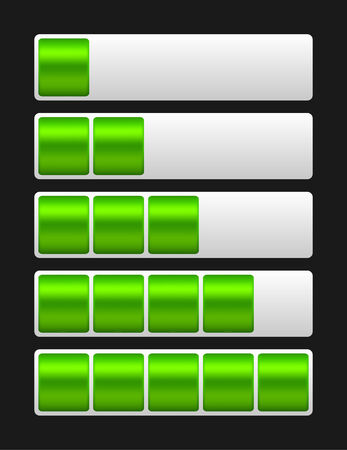 indicate: green loading bar indicate procedure of load