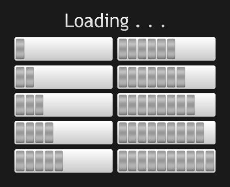 indicate: vector gray loading bar indicate procedure of load