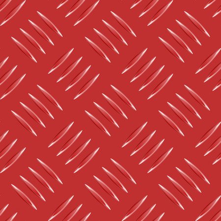 red metal: vector repeated red metal pattern with many metallic elements