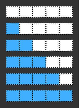 vector loading bar indicate procedure of load Vector