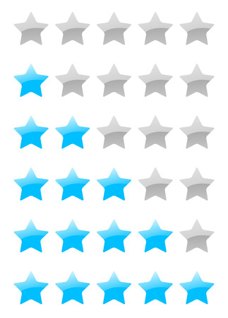 set of vector rating stars on the white background Vector