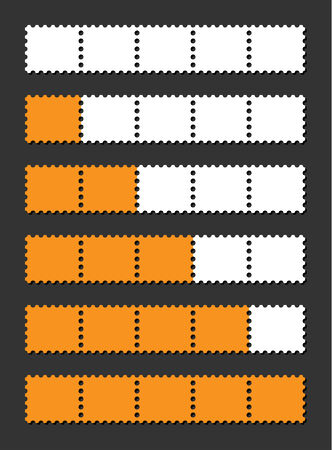 vector orange loading bar indicate procedure of load Vector