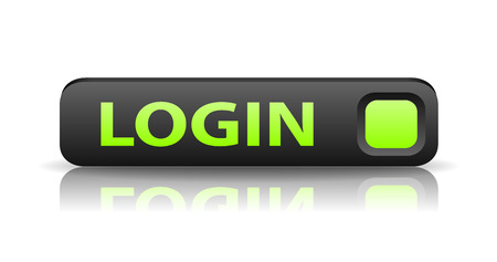 join here: vector 3D gray web button with green sign login and reflection