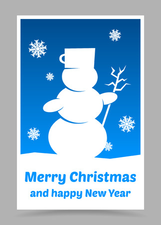 vector blue christmas card with christmas elements Vector